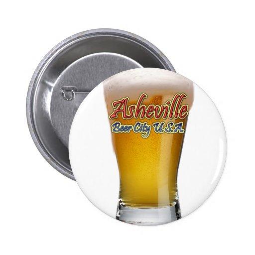 Asheville Beer City USA 2 Inch Round Button