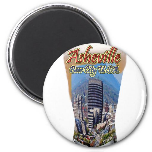 Asheville Beer City USA 2 Inch Round Magnet