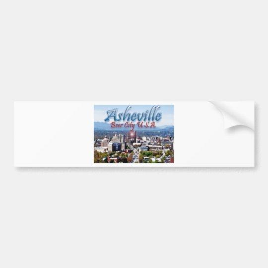Asheville Beer City USA Bumper Sticker
