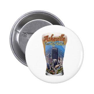 Asheville Beer City USA Pinback Button