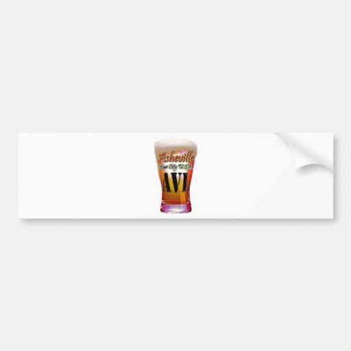 Asheville Beer City USA Car Bumper Sticker