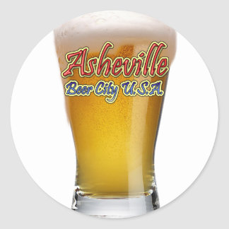 Asheville Beer City USA Classic Round Sticker