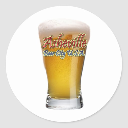 Asheville Beer City USA Stickers