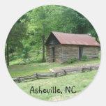 Asheville, Carolina del Norte Etiqueta Redonda