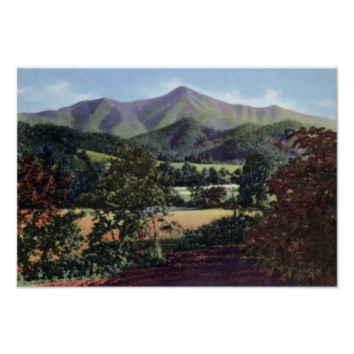 Asheville Carolina del Norte Mt Pisgah Poster