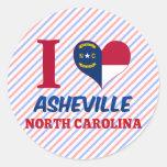 Asheville, Carolina del Norte Pegatinas Redondas