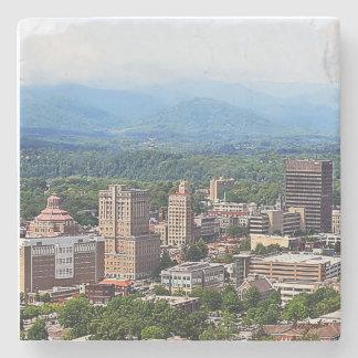 Asheville Cityscape, Asheville, NC. Marble Coaster
