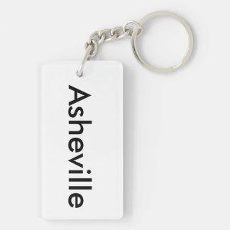 Asheville Clear Key Chain