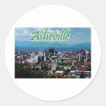 ¡Asheville… diferente es buena! Etiqueta Redonda