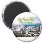 ¡Asheville… diferente es buena! Imán Redondo 5 Cm