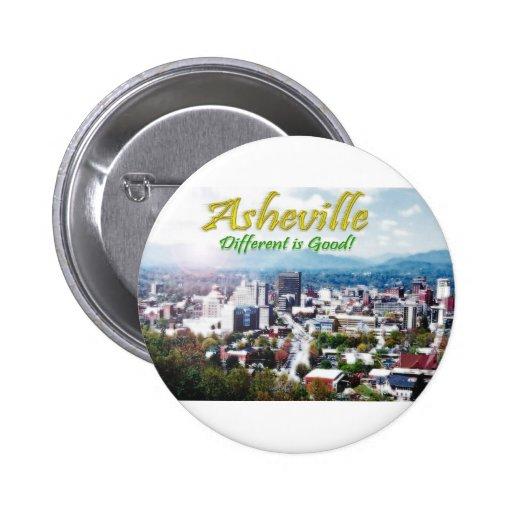 Asheville...Different is good! 2 Inch Round Button