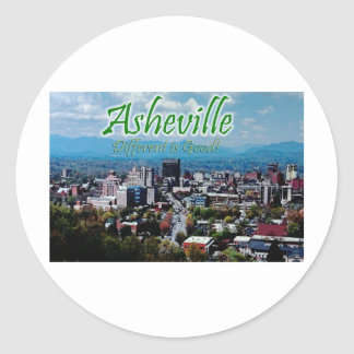 Asheville...Different is good! Classic Round Sticker