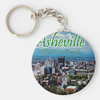 Asheville...Different is good! Keychain