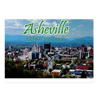 Asheville...Different is good! Postcard