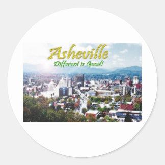 Asheville...Different is good! Sticker