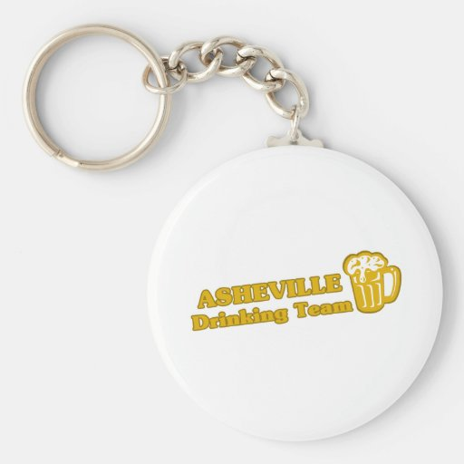 Asheville Drinking Team tee shirts Key Chain