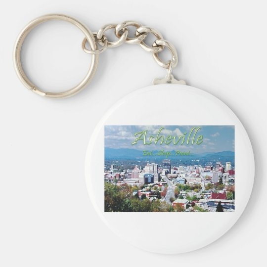 Asheville...Eat..Sleep...Paint Keychain