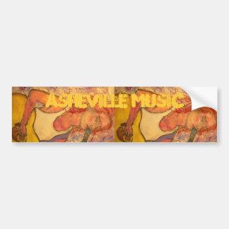 asheville music art bumper sticker