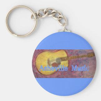 Asheville Music Keychain