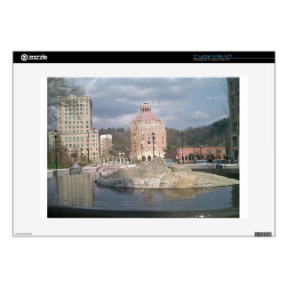 "Asheville nc fountain 15"" laptop skin"