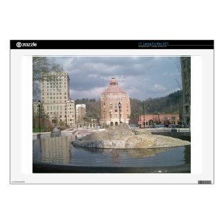 "Asheville nc fountain 17"" laptop skin"