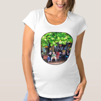 Asheville NC Outdoor Cafe Maternity T-Shirt