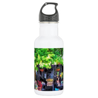 Asheville NC Outdoor Cafe 18oz Water Bottle