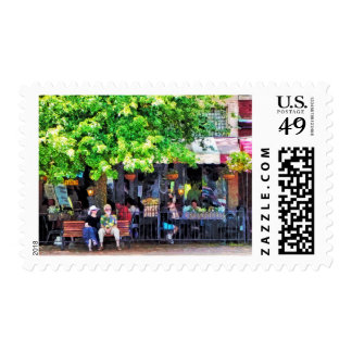 Asheville NC Outdoor Cafe Postage