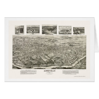 Asheville, NC Panoramic Map - 1912 Cards