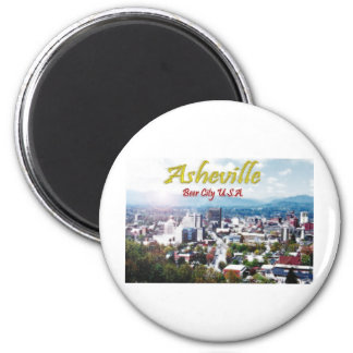 ASHEVILLE, NORTH CAROLINA Beer City USA 2 Inch Round Magnet