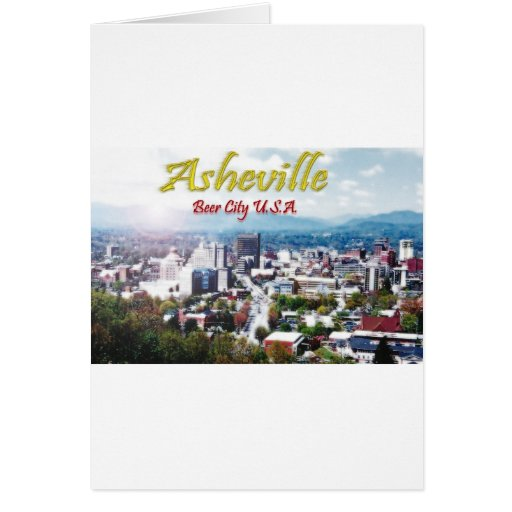 ASHEVILLE, NORTH CAROLINA Beer City USA Card
