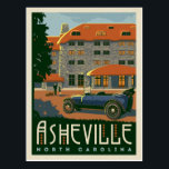 "Asheville, North Carolina Postcard<br><div class=""desc"">Anderson Design Group is an award-winning illustration and design firm in Nashville,  Tennessee. Founder Joel Anderson directs a team of talented artists to create original poster art that looks like classic vintage advertising prints from the 1920s to the 1960s.</div>"