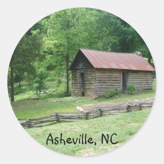 Asheville, North Carolina Round Sticker