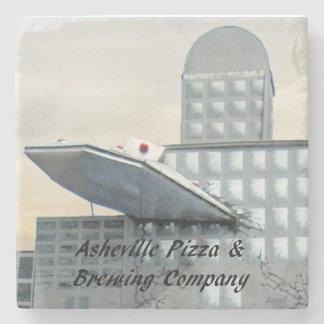 Asheville Pizza, Asheville, NC. Marble Stone Coast Stone Coaster