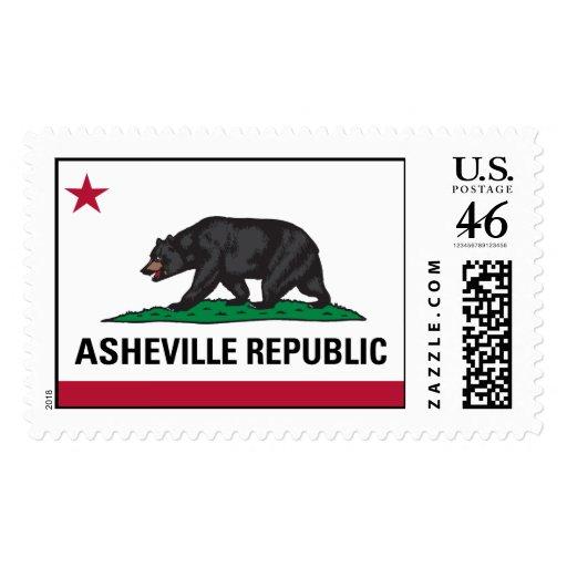 Asheville Republic Stamp