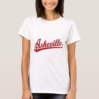 Asheville script logo in red T-Shirt