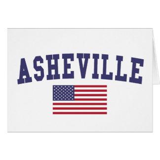 Asheville US Flag Card