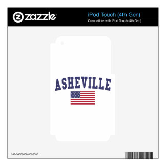 Asheville US Flag Decal For iPod Touch 4G