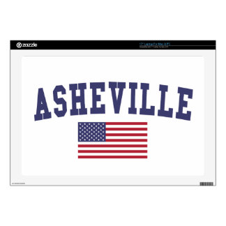 Asheville US Flag Decal For Laptop