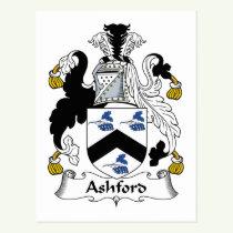Ashford Family Crest Postcard