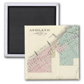 Ashland and Menomonie, Wis 2 Inch Square Magnet