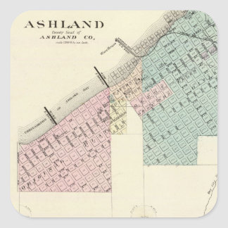Ashland and Menomonie, Wis Square Sticker