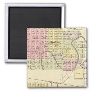 Ashland and Wahoo, Nebraska 2 Inch Square Magnet