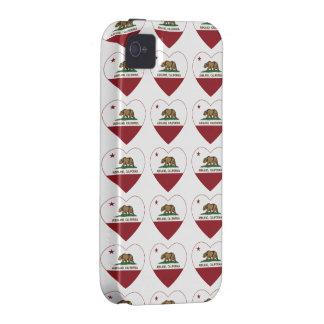 Ashland California Republic Heart iPhone 4 Covers