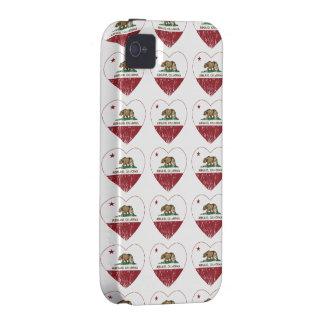 Ashland California Republic Heart Distressed Vibe iPhone 4 Cover