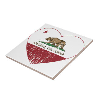 Ashland California Republic Heart Distressed Ceramic Tile