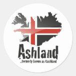 Ashland Etiquetas Redondas