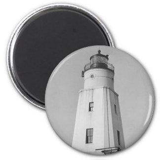Ashland Harbor Breakwater Lighthouse 2 Inch Round Magnet