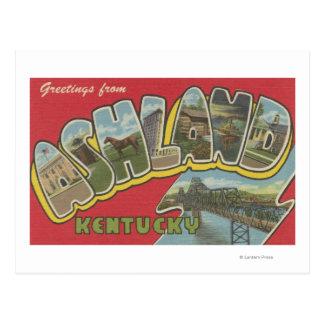 Ashland, Kentucky - Large Letter Scenes Postcard