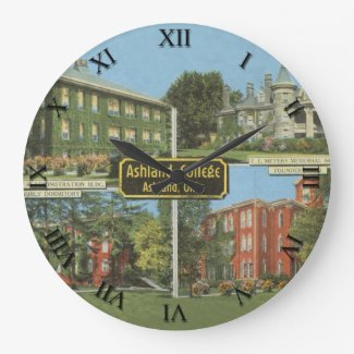 Ashland, Ohio Post Card Clock - Ashland College